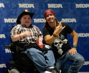 Bret Michaels with boy from MDA